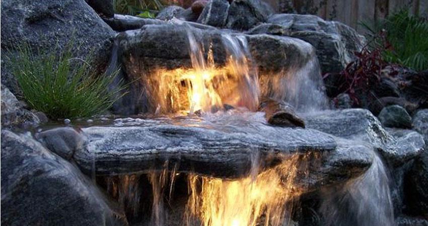 Kerti tó, csobogók építése kerti csobogo vizeses
