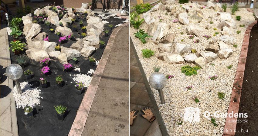 Ipari parkok zöldterületéneklétesítése, kezelése, - HIÁNY!! Ipari parkok, irodaházak zöldterülteinek kialakítása sziklakert